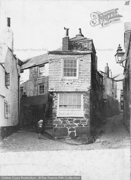 Photo of St Ives, the Old Town c1880