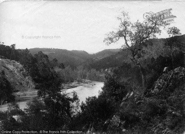 Photo of St Jeannet, View From Pont De Tanneron 1890