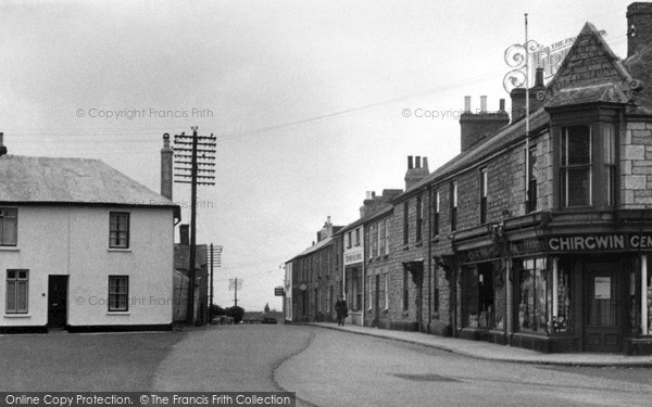 Photo of St Just in Penwith, Bank Square c1950