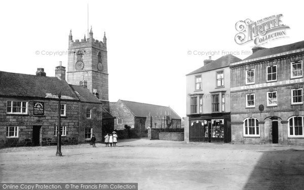 Photo of St Just In Penwith, Church And Market Place 1908