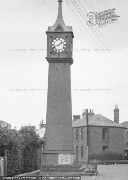 Photo of St Just In Penwith, Clock Tower c.1950