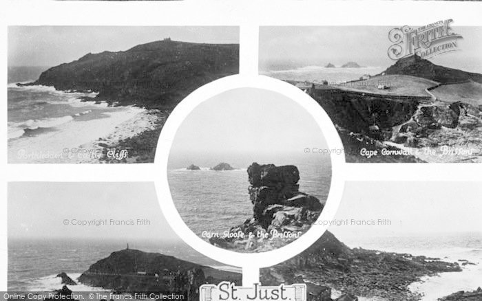 Photo of St Just In Penwith, Composite c.1930