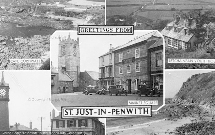 Photo of St Just In Penwith, Composite c.1955