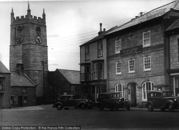 Photo of St Just In Penwith, Market Square c.1935