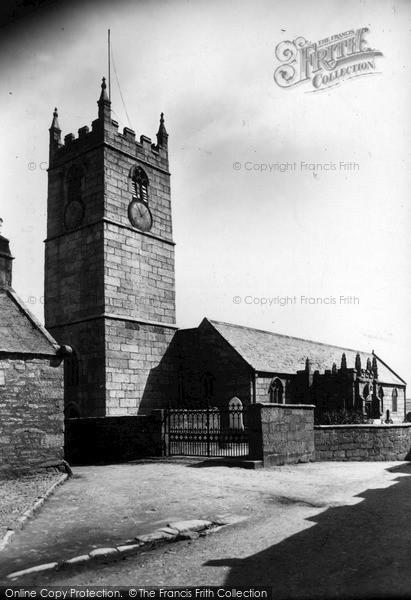 Photo of St Just In Penwith, Parish Church c.1935