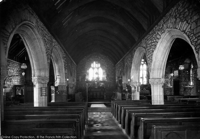 Photo of St Just In Penwith, Parish Church Interior c.1935