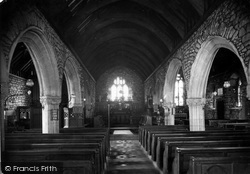 St Just In Penwith, Parish Church Interior c.1935
