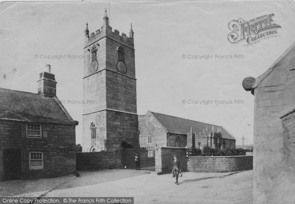 Photo of St Just In Penwith, The Church 1908