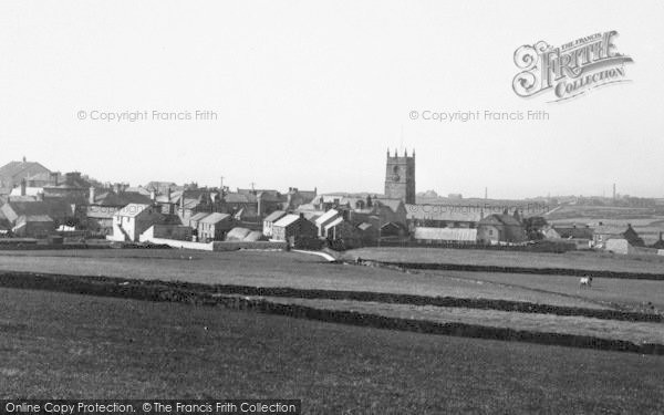 Photo of St Just In Penwith, The Church And Town c.1935