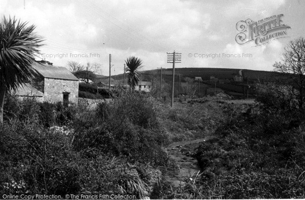 Photo of St Just In Penwith, View From Nancherrow Bridge c.1950