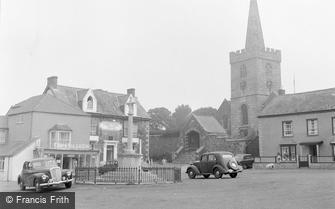 St Keverne, War Memorial and Church 1960
