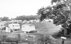 St Lawrence Bay, The Stone, Caravan Site c.1955