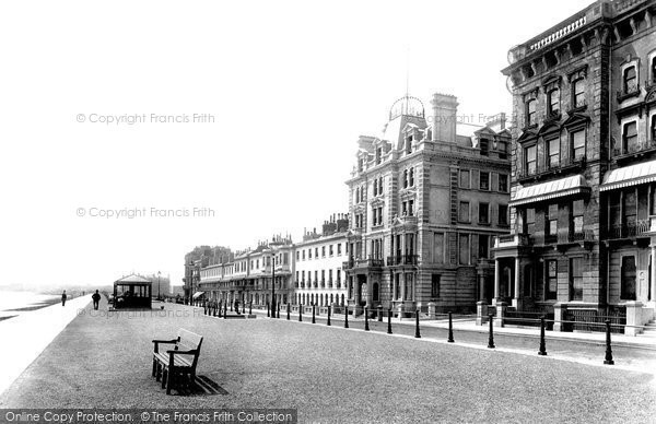 Photo of St Leonards, Parade And Sussex Hotel 1890