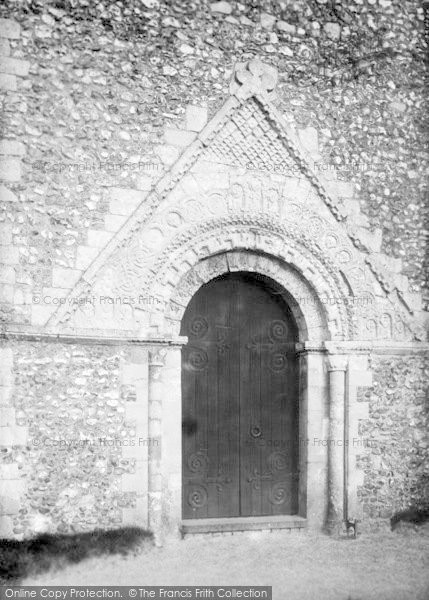 Photo of St Margaret's At Cliffe, Church Of St Margaret Of Antioch, Entrance 1898