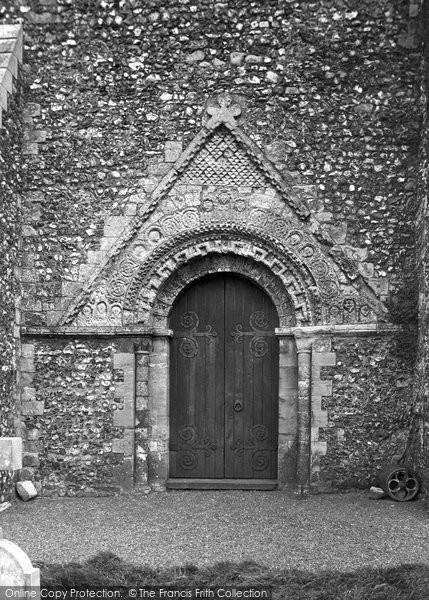 Photo of St Margaret's At Cliffe, Parish Church West Door 1918