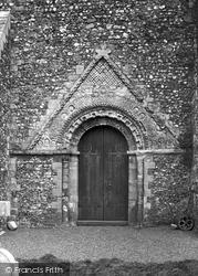 Parish Church West Door 1918, St Margaret's At Cliffe