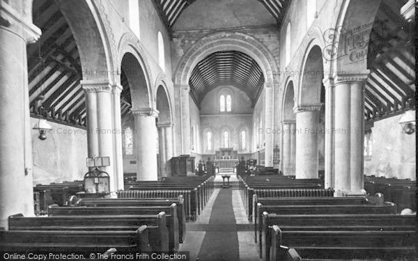 Photo of St Margaret's At Cliffe, The Church, Interior 1918