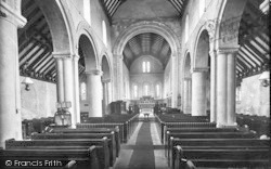 The Church, Interior 1918, St Margaret's At Cliffe