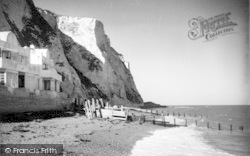 St Margaret's Bay, The Beach And Cliffs c.1955