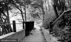St Margaret's Bay, The Zigzag Cliff Path c.1955