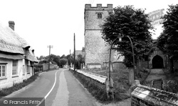 Village Street And St Peter's Church c.1955, St Mary Bourne