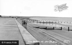 St Mary's Bay, The Beach c.1955