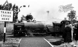 St Mary's Bay, The Miniature Train Leaving Station c.1960