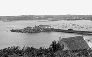St Mary's, Hugh Town Harbour c1955