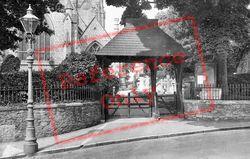Street Lamp And Lychgate 1926, St Marychurch