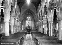 The Parish Church Interior 1920, St Marychurch