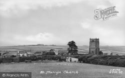 Church c.1955, St Merryn