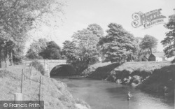 The River Wyre And Bridge c.1960, St Michael's On Wyre