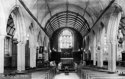 The Church Interior 1893, St Neot