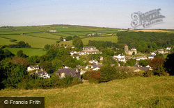 Village From Goonzion Down 1998, St Neot
