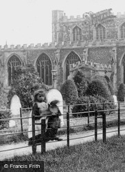 A Girl On The Church Path 1897, St Neots