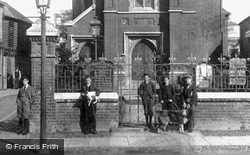Congregating By The Church 1897, St Neots
