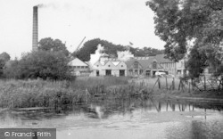 St Neots, Paper Mill c.1955