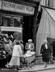 Pushing A Pram, High Street c.1955, St Neots