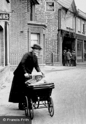 Pushing A Pram On New Street 1925, St Neots
