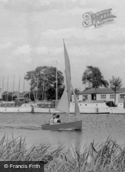 Sailing On The River Ouse c.1965, St Neots