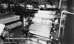 Carding, Tregwynt Woollen Mill c.1960, St Nicholas