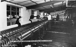 Spinning, Tregwynt Woollen Mill c.1960, St Nicholas