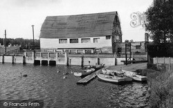St Osyth, Boating Lake And Old Mill c.1955