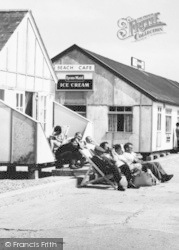 St Osyth, Sunbathing By Beach Café c.1965