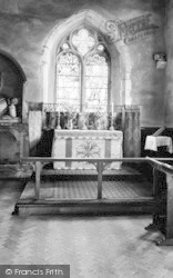 St Osyth, The Church Altar c.1955