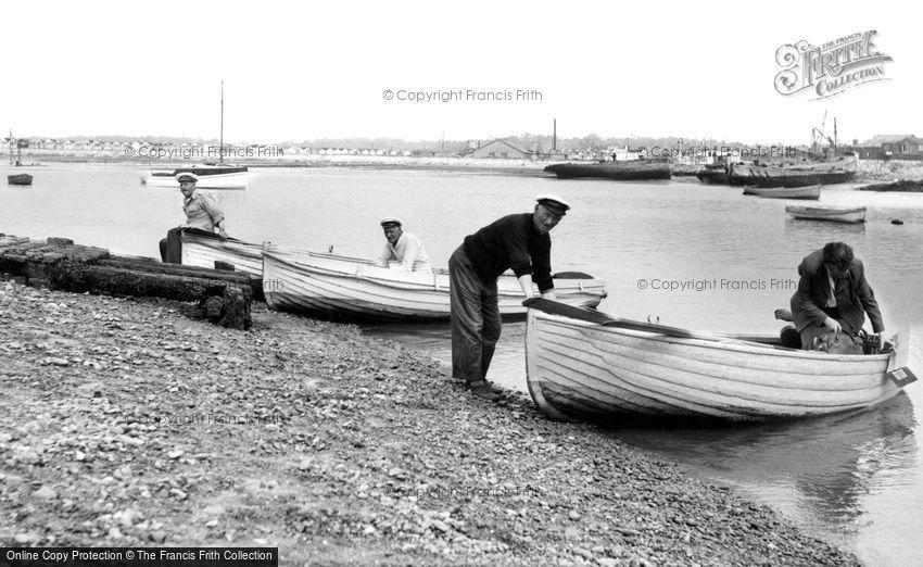 St Osyth, the Ferry, Point Clear Bay c1955