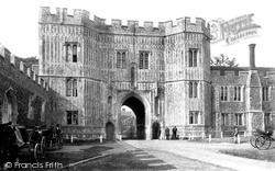 St Osyth, The Priory Gatehouse 1895
