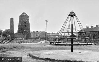 Stafford, Children's Park and Old Mill c1955