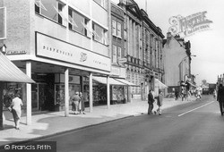 Market Square And Gaolgate Street c.1960, Stafford