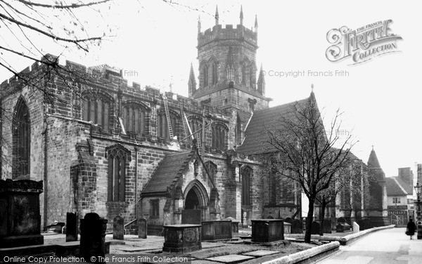 Stafford, St Mary's Church c1950
